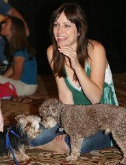 Jenny's dog makes a friend.