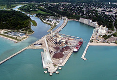 Goderich Harbour 1 (L. Michael Roberts) Tags: goderich arielviews canada