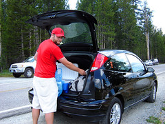 loading up the car