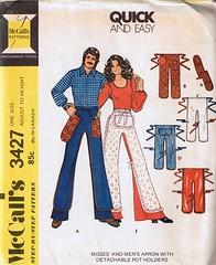 Pants Apron, 1972 (Woof Nanny) Tags: vintage pattern sewing apron novelty potholder mccalls