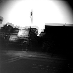 Adult video store (efo) Tags: holga elcerrito california sanpabloave bw adultvideostore doubleexposure de
