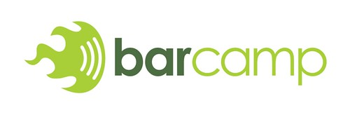 Bar camp logo in white by factoryjoe.