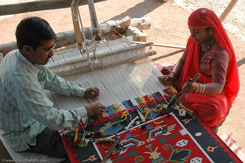 Durrie Carpet Making in Rajasthan India