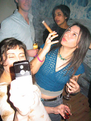 smoking party (squeezemonkey) Tags: party portrait cigar smoking
