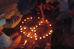 Candlelight Vigil for Peace - Boulder, Colorado - by Molas