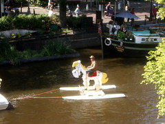 hobby-horsing down prinsengracht (neb) Tags: amsterdam pieremachochel prinsengracht sail2005