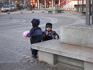 Kinder auf den Rollberg