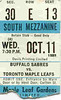 October 11, 1989 - Maple Leafs