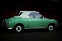 figaro, figaro, figaro... (ellectric) Tags: car classic vintage retro green mint white shiny london uk nottinghill figaro nissan emerald 1991