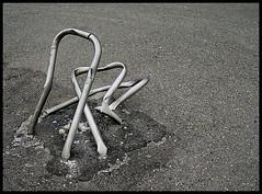 Folded Pipes On The Asphalt ( San Siro ) (brtsergio) Tags: milan minimalism sansiro lotto mc05negativespace