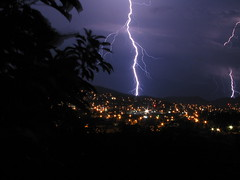Doble Rayo (.::::. Irving .::::.) Tags: city light storm rain night canon mexico luces noche lluvia bravo ray ciudad powershot tepic nayarit powershota75 bolt tormenta lightning rayo fcl thunder trueno sumer relampago lighthingstorm irvmark