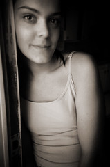 n&b (-Antoine-) Tags: bw film girl analog 35mm lomo lca pretty nb bella analogue ge fille genevive genevieve antoinerouleau