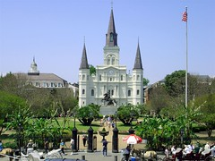 Jackson Square & St. Louis Cathedral (Hoffmann) Tags: new trip travel vacation usa topv111 la topv333 orleans louisiana cathedral neworleans cybershot jackson topv222 frenchquarter jacksonsquare nola w1 sonycybershot bigeasy stlouiscathedral sonyw1