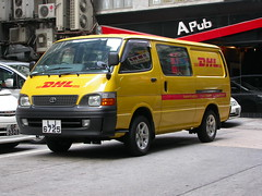 DHL Toyota Van (So Cal Metro) Tags: dhl package freight delivery parcel van toyota hongkong