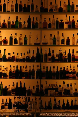 Photo: Bar stocked with alcohol (nyleharris@flickr)