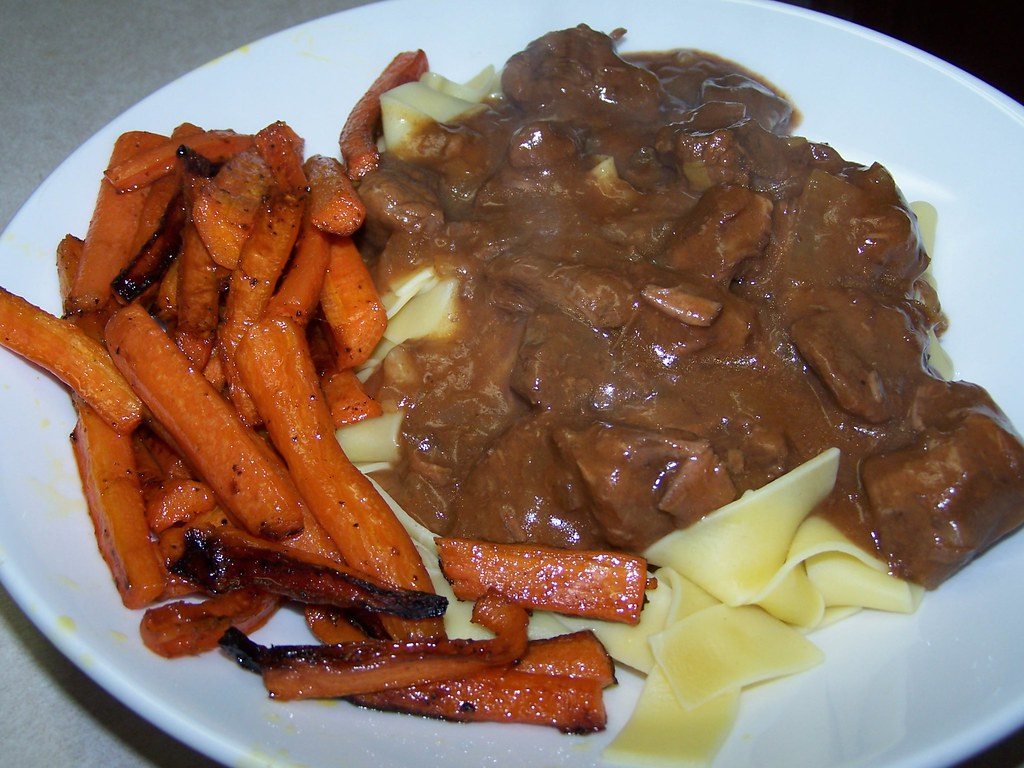 Hungarian Goulash and Caramelized Carrots