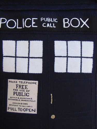 close up on the TARDIS