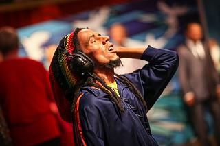 Bob Marley Wax Figure