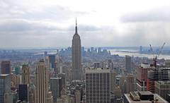 looking down town (ho_hokus) Tags: newyorkcity usa newyork skyline skyscraper nikon downtown view manhattan rockefellercenter midtown hudsonriver empirestatebuilding topoftherock d80 18135mm
