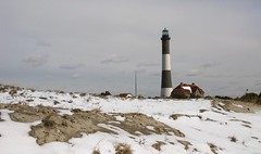 Snowy Fire Island (Alida's Photos) Tags: winter usa lighthouse snow snowy longislandny newyorkstate fireisland sanddunes fireislandlighthouse barrierbeach
