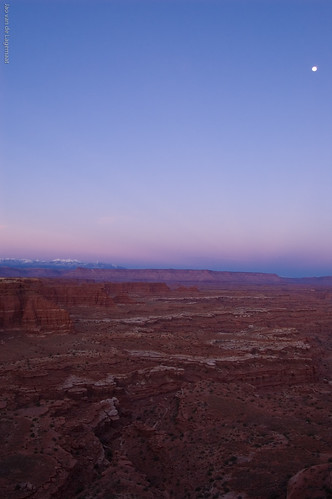 Moon over Canyonlands