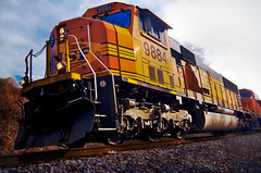 Hello Mr. 9884 (regularjoe) Tags: orange train bnsf railfanning broll sd70mac joerocks shotawhileago ofallthejoeswhomeverrockedjoesrockwastherockiest