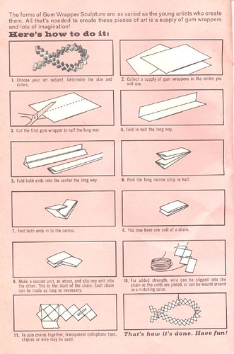 How to make gum wrapper bags
