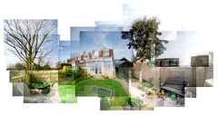 Garden 180 degree panograph (Chris Charlesworth) Tags: garden mosaic panograph nikond80