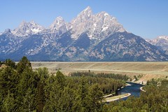 Snake River (Robby Edwards) Tags: vacation mountains water river nationalpark snakeriver wyoming grandteton grandtetonnationalpark cathedralgroup snakeriveroverlook flickrphotoaward