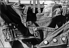 Jeans on the line (DJ Bass) Tags: fashion vintage jeans levi denim levis washing 501 buttonfly levijeans