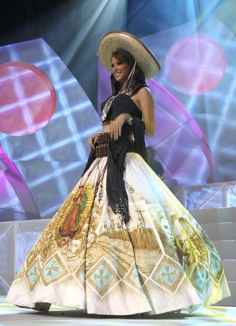 Miss Mexico's pageant dress raises eyebrows