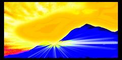 Yangtze colour burst (Heaven`s Gate (John)) Tags: china travel blue vacation mountains color colour yellow photoshop river creative dramatic imagination yangtzeriver psychedelic multicolour outstandingshots mulicolor johndalkin heavensgatejohn