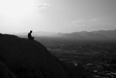 Solitude above a city! (Shapour_3) Tags: bw iran meditation isfahan shapour