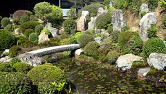 Tofuku-ji Temple (ichiro kishimi) Tags: bridge water japan stone garden temple pond kyoto lotus tofukuji favoritegarden rockeryshots