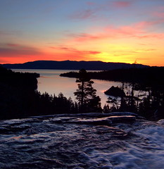 Waiting for sunrise-Emerald Bay (Marc Crumpler (Ilikethenight)) Tags: california wow landscape waterfall laketahoe f30 finepix fujifilm neat emeraldbay eaglefalls supershot fujipix 25faves fujif30 superaplus raziks20 superhearts