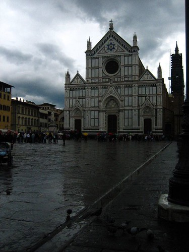 Santa Croce in the rain