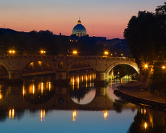 che bella sera! (a click in the dark) Tags: sunset italy vatican rome roma italia dusk bestviewedlarge trastevere tevere reflectionsof earthday pontesisto ilvaticano top20reflections top20longexposure iltramonto ilcrepuscolo