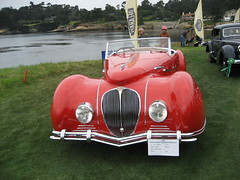 Pebble Beach 2006 (Bionic Rhonda, back slowly) Tags: cars beach car classiccar pebble 06 135mm delahaye sharknosedesign frenchexotic