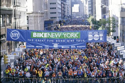 Bike NY start