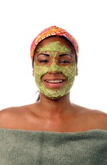 Avocado facial.  April 2007.
