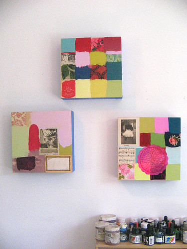 patchwork paintings wall