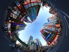 panorama japan geotagged tokyo panoramic akihabara 360° stereographic d40x geo:lat=35698369 geo:lon=139771191