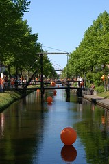 Main canal decorated for Queens day