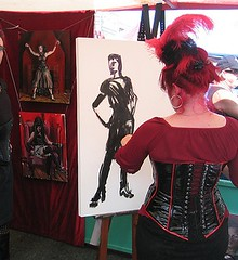 Suzanne working at Folsom 2006 by cerambicidae (slurkflickr) Tags: sf portrait fetish painting costume drawing goth bdsm corset burlesque suzanneforbes folsomstreetfair2007