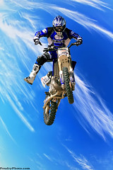 Flying in  Deep Blue Sky (A.alFoudry) Tags: blue sky cloud bike sport canon fly extreme l motor 28 kuwait usm 70200 q8 30d ahmadi abdullah    kuw  xnuzha alfoudry  abdullahalfoudry favoritesonly superaplus aplusphoto foudryphotocom kuwaitvoluntaryworkcenter