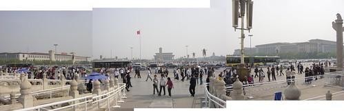 desde Tiananmen hacia la plaza