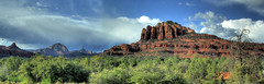 Along the Arizona Highways (JoelDeluxe) Tags: sunset red arizona autostitch beauty rock cathedral sedona az joeldeluxe hdr verdevalley oakcreek naturesfinest finallytheskycleared