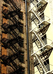 Fire Escapes, New York (Robert A. Coles) Tags: newyork fireescape