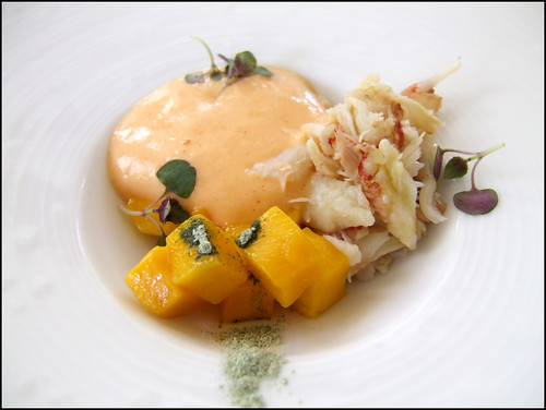 Jean Georges (New York) - Crab and Mango Salad, 'Chili-Champagne' Sabayon