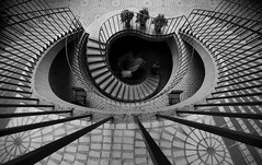 Hypnosis (Thomas Hawk) Tags: sanfrancisco california city blackandwhite bw usa topf25 architecture stairs delete2 blackwhite unitedstates fav50 10 unitedstatesofamerica save3 save7 save8 delete save save2 fav20 stairway financialdistrict save9 save4 save5 save10 hitchcock save6 fav30 ladders johnportman embarcaderocenter fav10 fav25 fav100 fav200 fav300 fav40 fav60 fav90 fav80 fav70 superfave fav500 fav400 fav600 fav700 fav800 soetop50sf